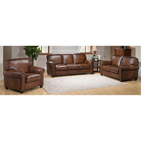 amax aspen  piece leather living room set wayfair