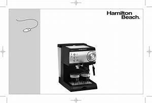 Hamilton Beach Espresso Maker 40715 User Guide