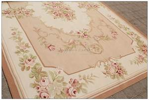 8X10 Shabby French Chic Aubusson Rug LIGHT PINK IVORY ...