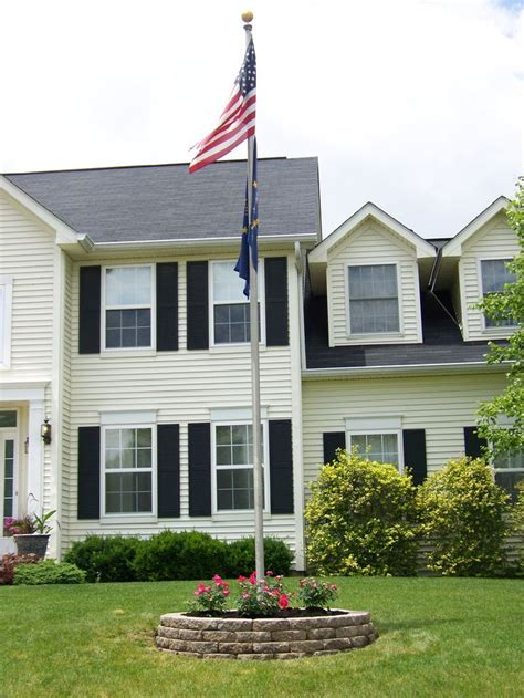 yard flag pole best 20 flag pole landscaping ideas on 1204