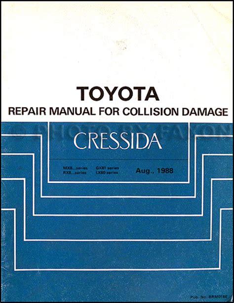 car service manuals pdf 1992 toyota cressida head up display 1989 1992 toyota cressida body collision repair shop manual original