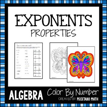 properties of color properties of exponents algebra color by number by