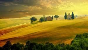 wallpaper, tuscany, , italy, , hills, , field, , 5k, , nature, , 16281