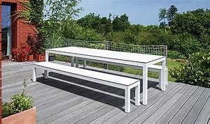 Table Et Banc De Jardin : ensemble de jardin table bancs haut de gamme leuven ~ Melissatoandfro.com Idées de Décoration