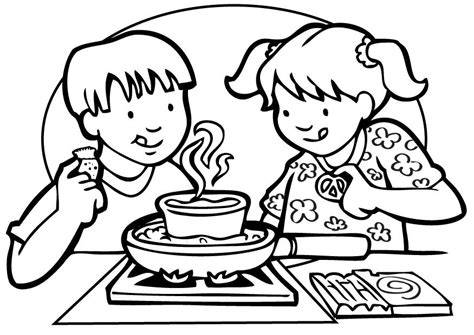 Cooking Class Coloring Pages For Kids