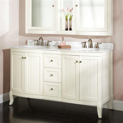 White Bathroom Vanity by 60 Quot Palmetto White Vanity Set Bathroom