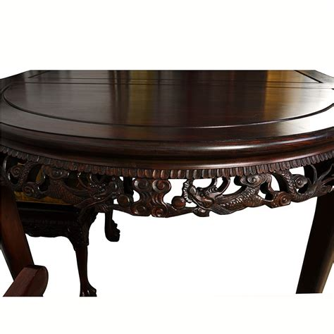 All products from dragon coffee table category are shipped worldwide with no additional fees. Vintage Chinese Carved Rosewood Dragon Dining Table with 8 ...