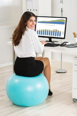Should I be Sitting on an Exercise Ball at Work?