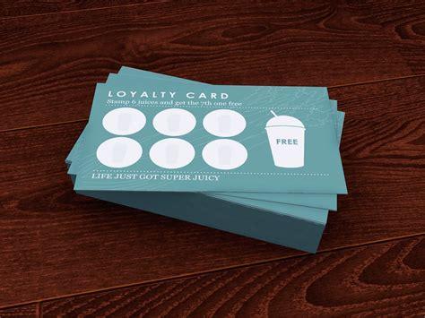 loyalty card design   detox kitchen card design