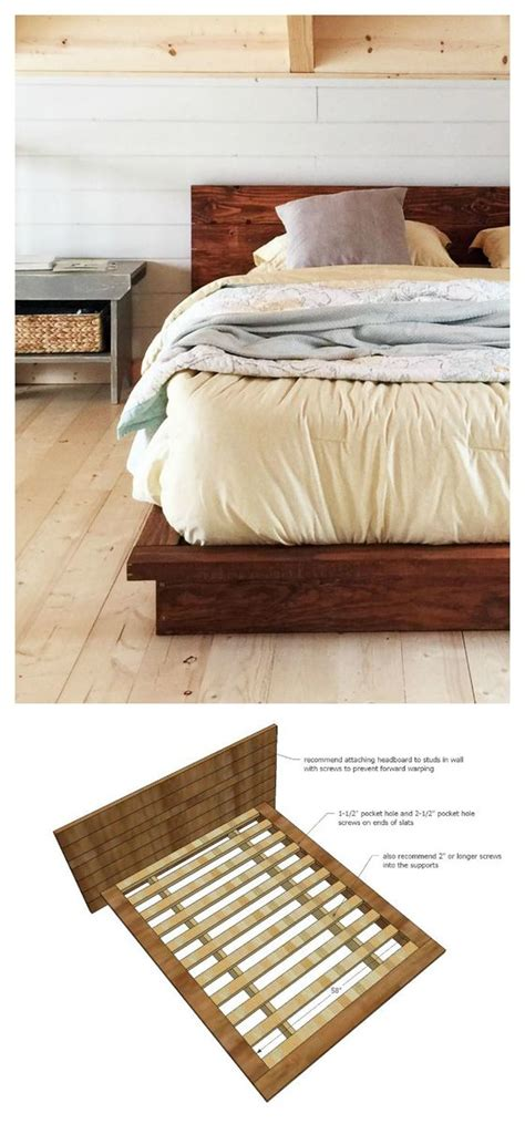 How To Build A Platform Bed by White Rustic Modern 2x6 Platform Bed Diy Projects