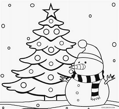 Christmas Tree Pages Coloring Printable