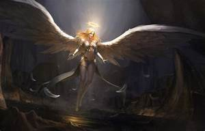 Wallpaper Girl  Figure  Blonde  Angel  Feathers  Wings