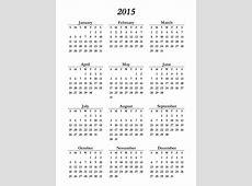Printable 2015 Calendar On One Page Free Loving Printable
