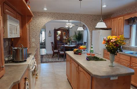 kitchen middle island pleasant valley homes hearth wall galley 2301