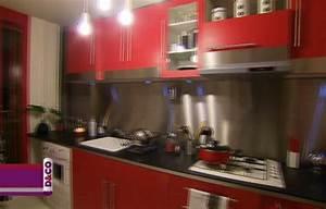 deco cuisine rouge et noir With idee deco cuisine avec cuisine rouge et noir