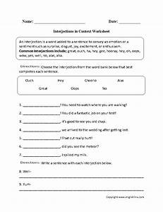 Interjections in Context worksheet | Englishlinx.com Board ...