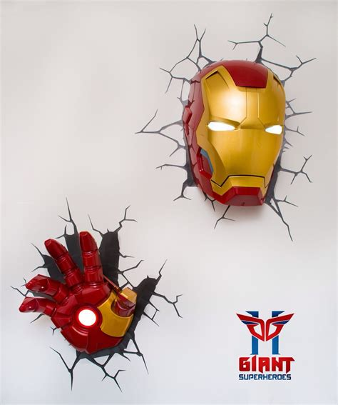 super cool avengers 3d wall deco night lights for sale
