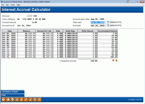 loan interest accrual calculator
