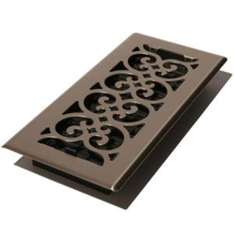 decor grates 4 in x 10 in steel floor register in