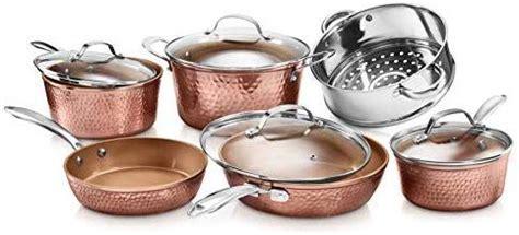 gotham steel hammered collection  piece premium cookware pots  pan set  triple