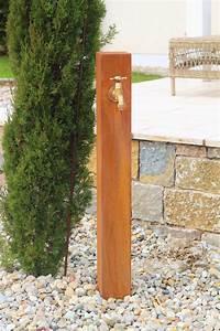 zapfstelle cordon 100 inkl wasserhahn cortenstahl With französischer balkon mit design wasserhahn garten