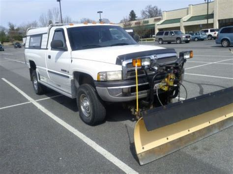 find used 2001 dodge ram 2500 4 4 regular cab with a 7 5 foot meyer snow plow 5 9 gas in