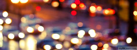 blurred night city lights facebook covers myfbcovers