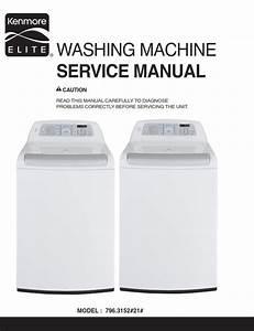 Kenmore Elite 31512 Washer Service Manual And Repair G