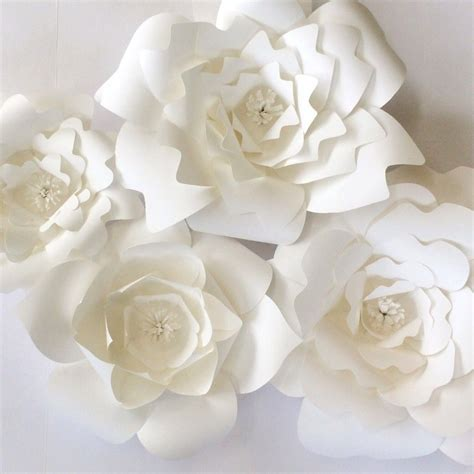 paper flower backdrop template diy paper flower templates wedding backdrops flower walls for events or home decor wedding