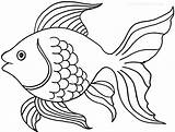 Goldfish Coloring Printable Cool2bkids Credit Template Sketch Larger sketch template