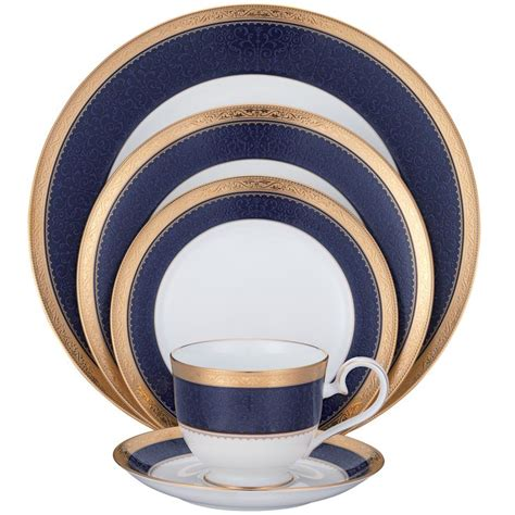 noritake china cobalt odessa dinnerware sets setting place dinner service platinum piece noritakechina crestwood patterns 20pc fine asian etched cup