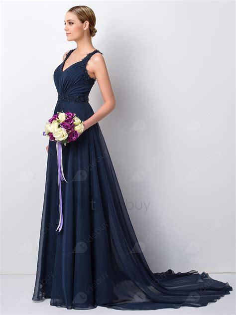 robe demoiselle d honneur bleu robe demoiselle d honneur charme perles florale bleue tidebuy