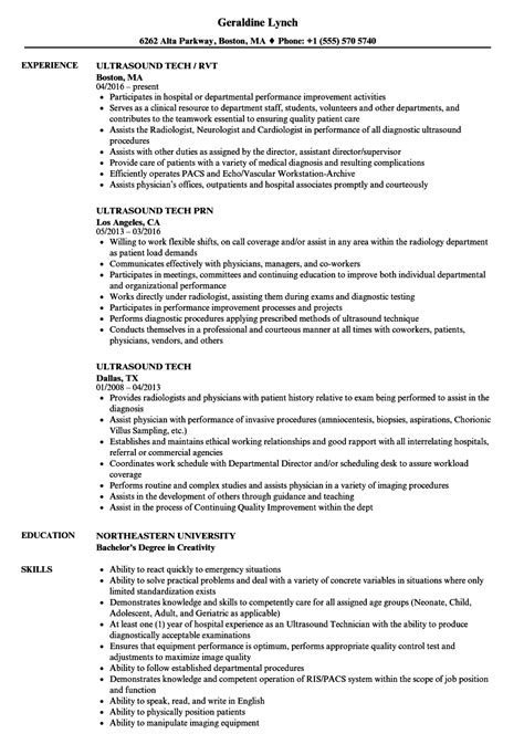 ultrasound resume exles 28 images sonographer resume
