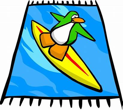 Beach Towel Surf Clipart Surfer Penguin Club