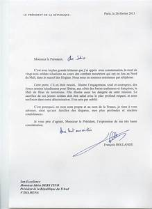 Lettre Du Président Aux Français : lettre de condol ances du pr sident fran ais au pr sident tchadien et aux familles des soldats ~ Medecine-chirurgie-esthetiques.com Avis de Voitures
