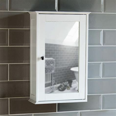 Bathroom Wall Cabinets With Mirror by Bathroom Wall Cabinet Single Mirror Door Cupboard White