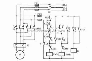 three phase motor with a relay for inverting circuit With contactor which willcircuit on a electrical contactor on a time clock