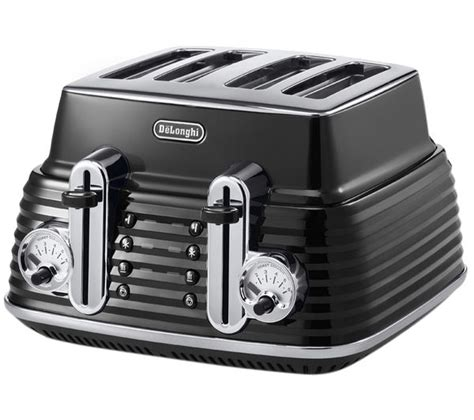 Delonghi 4 Slice Toaster by Buy Delonghi Scultura Ctz4003bk 4 Slice Toaster Black