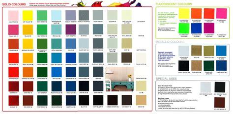 bosny spray paint colors chart paint color ideas