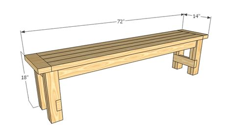 simple wood bench plans  woodworking
