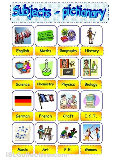 grade english school subjects