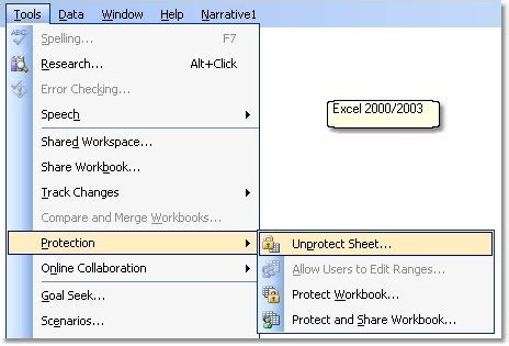 excel 2007 protect worksheet not available tips faqs help