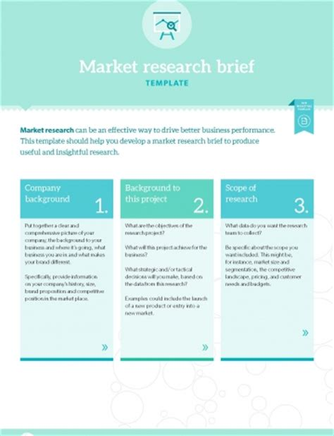 marketing research brief template template market research brief b2b marketing