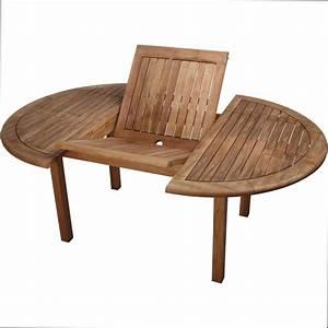 Table De Jardin Ronde En Bois : table ronde bois rallonge maison design ~ Dailycaller-alerts.com Idées de Décoration