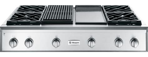 ge monogram zgungpss gas sealed burner style cooktop  stainless steel appliances connection