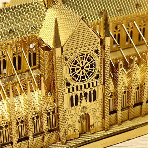 buy piececool notre dame cathedral paris diy  laser cut