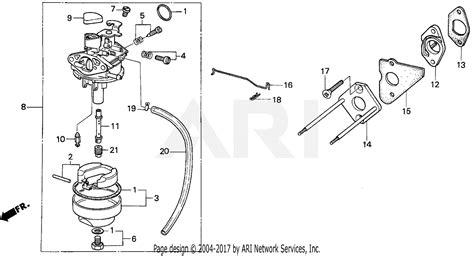 Honda Carb Diagram Cleaning by Honda Hr17 Pdam Lawn Mower Jpn Vin Hr17 1000001 Parts