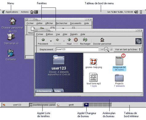 bureau udes environnement introduction aux composants de l 39 environnement de bureau