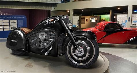 Harley Based Bugatti Type 57s Atlantic Motorcycle Concept