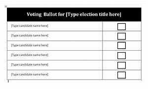 free ballot template word just bcause With free voting ballot template